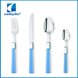 New design stainless steel cultery with creative plastic handle  tableware