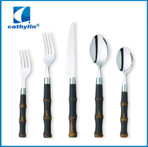 Plastic Cultery Set Polka Dot Handle