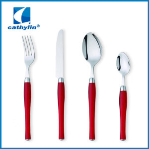 fashion design stainless steel cultery with blue handle dinnerware set with good quality