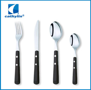 24 pcs Stainless Steel Cultery Set With Plastic Handle
