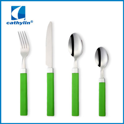 half tang plastic handle cutlery set