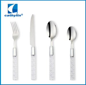 plastic handle cutlery sets wholesale fashionable cutlery sets