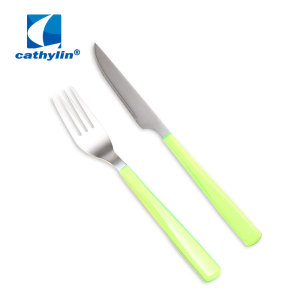 Plastic Handle Portable Mini Kids Cutlery Set