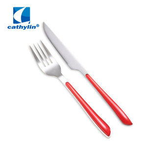 Plastic Handle Kids Small Cutlery Set