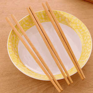 Wholesale bulk cheap prices japanese korean reusable round bamboo wood sushi eco friendly chopsticks