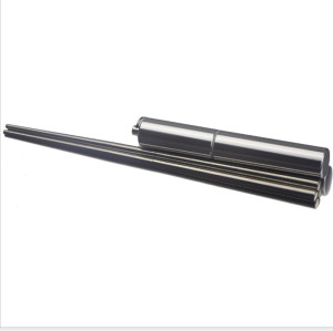 Retractable metal titanium solid compact outdoor chopsticks with aluminium case