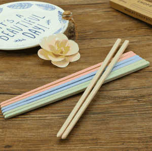 Dishwasher-safe non-slip design portable reusable wheat straw chopsticks with box