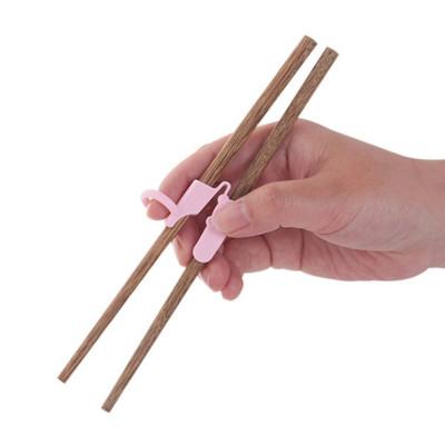 Custom logo bamboo wooden baby kids children beginners learn training chopsticks helper with box