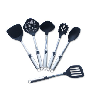 New Design wholesale small nylon kitchen utensils stainless steel kitchen cooking tool sets