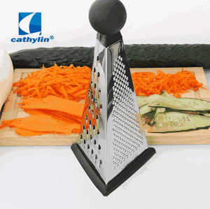 In stock 9 inches multi-function stainless steel apple carrot cone grater