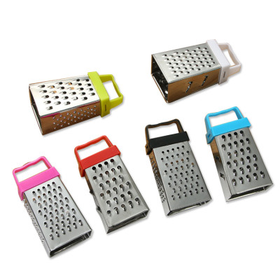 Hot sell 3 inches 4 side multi-function stainless steel cheese ginger mini grater