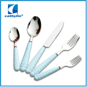 Simple style ceramic handle cutlery