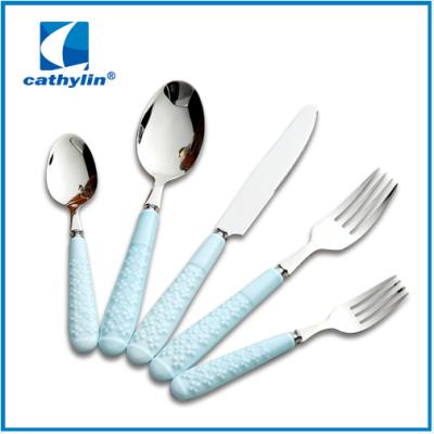 Simple style ceramic handle cutlery
