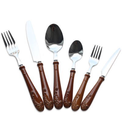 4pcs premium luxury wedding cutlery set, 18/10 stainless steel flatware