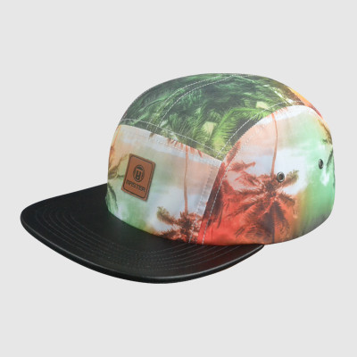 PU Leather Snapback hat