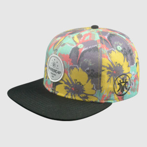 Colorful Heat Transfer Printing Snapback Cap