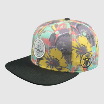 Colorful Heat Transfer Printing Snapback Cap