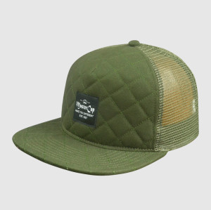 Army Green Snapback Hats with  Woven Embroidery
