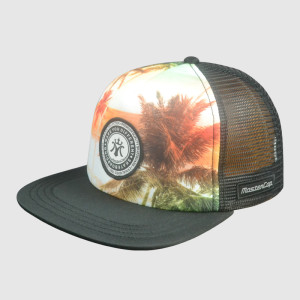 Flat Camo Woven Embroidery Snapback Hats