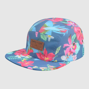 Colorful 5 Panel Printing snapback Hats/Caps with PU Badge