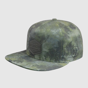 Camo Printing Snapback Hats with PU Badge