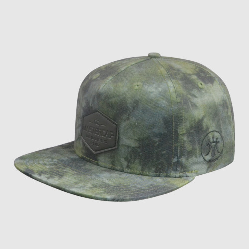 Camo Printing Snapback Hats with PU Badge