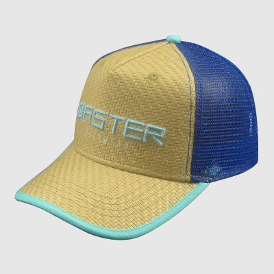 Embroidery 5 Panel Grass Trucker Cap