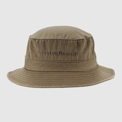 Embroidery Brown Bucket Hat and Cap