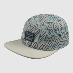 Wave Printing Snapback Caps and Hats with Woven Badge