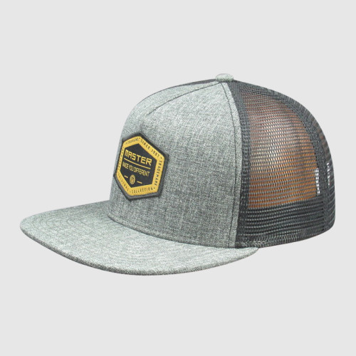 Gray Snapback Caps and Hats with Woven Badge