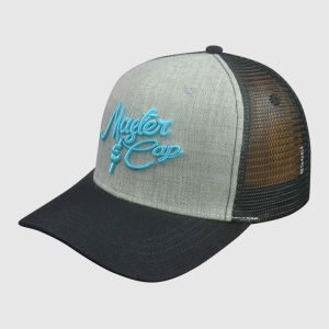 Gray Baseball Caps with Blue Embroidery