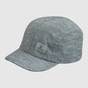 Fahion Gray Caps with Badge and Fitted Strap