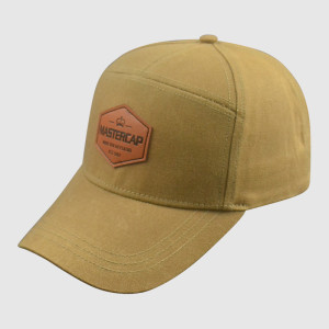 Khaki Performance Caps with PU Badge