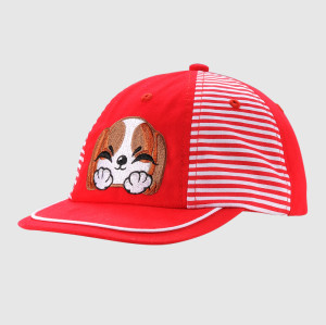 Disney kid size 6 panels baseball cap with flat embroidery logo