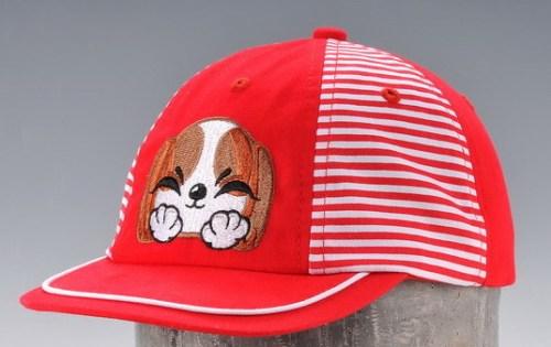 Disney kid size 6 panels baseball cap with flat embroidery logo