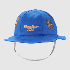 Disney kids size bucket cap with flat flower printing logo