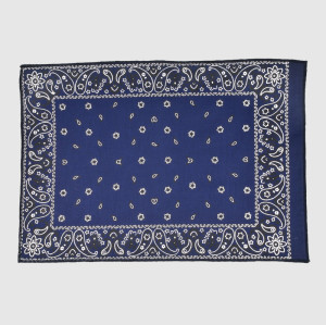 Blue Bandana with Printing Logo