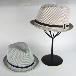 Check Gingham Fedora Hat