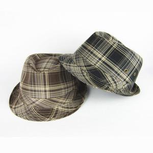 Cotton Fedora Hat With Metal Eyelet