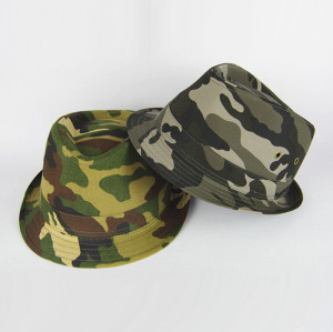 Cotton Camo Fedora Hat