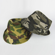 Cotton Camo Fedora Hat