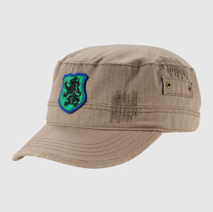 Brown Embroidery Army Cap