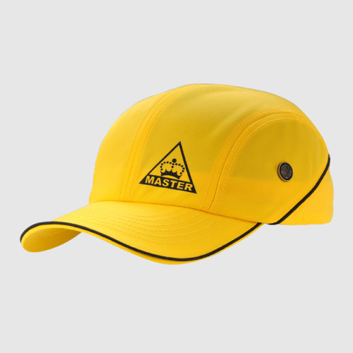 Yellow Stretch-fit Cap With Printing