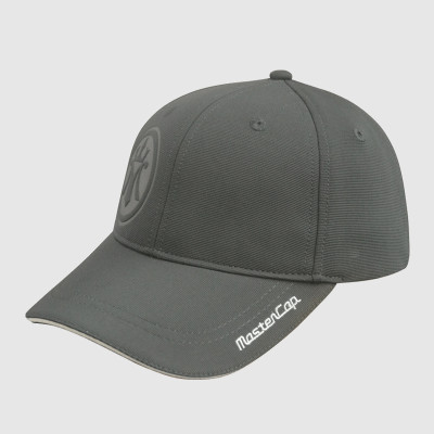 Gray Embroidery Stretch-fit Cap With Sandwich