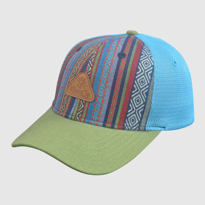 National Style Trucker Cap with PU Badge