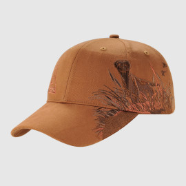 Coffee Color Baseball Cap with Embroidery