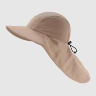 Khaki Functional Hat with Elastic Strap
