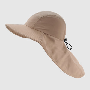 Khaki Functional Hat with Elastic Strap