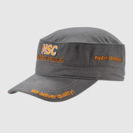 Gray Army Cap with Embroidery