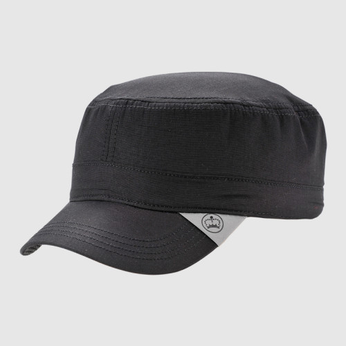 Black Cotton Army Cap